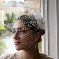 Ivory Bridal Birdcage