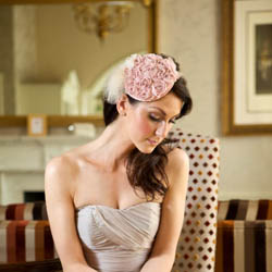 Elizabeth - pale pink rose fascinator  e0959a433c8