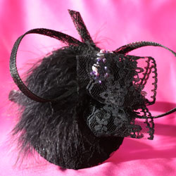 Black Feathers and purple beads