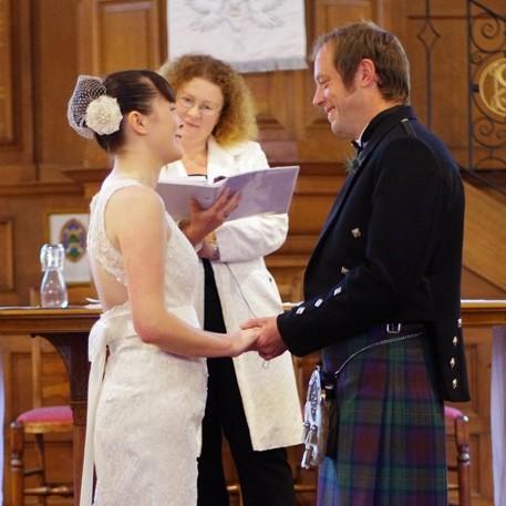 Real life wedding! Fiona's beautiful daisy French bandeau