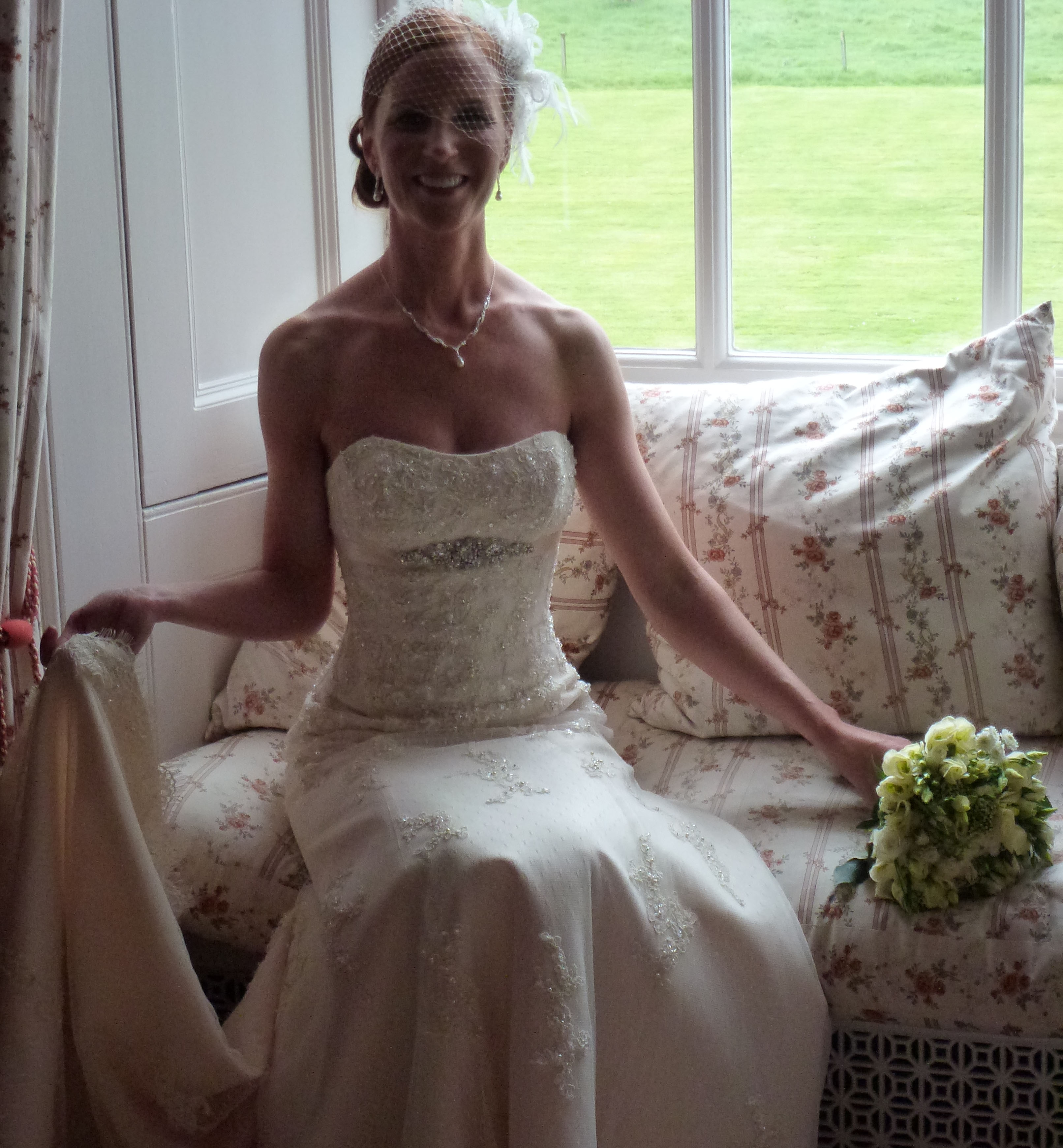 Lucy ties the knot in classic style
