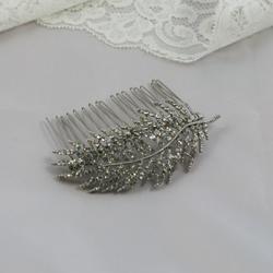Lara silver crystal comb