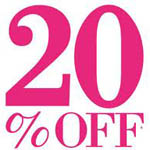 20% off sale for December 2012!
