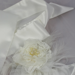 Leila Satin off white bridal belt