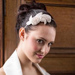 Vintage floral bridal alice band