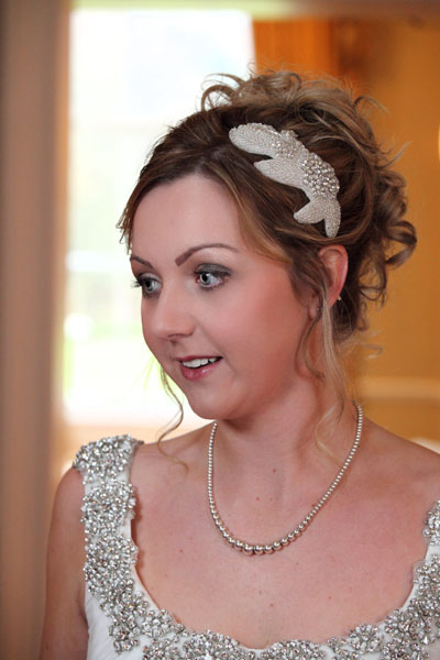 Melville Castle photoshoot featuring our Florence and Patricia fascinators