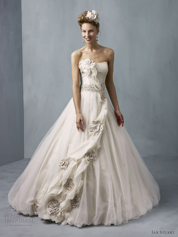 ian-stuart-wedding-dresses-2013-cassiopeia-taupe-ball-gown-strapless
