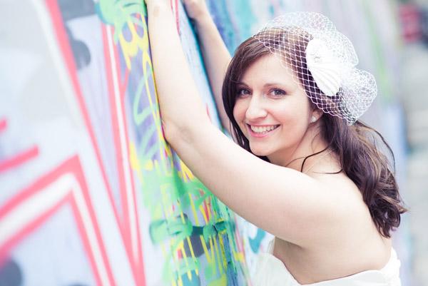 Balmoral beauty – Gemma's bespoke birdcage veil