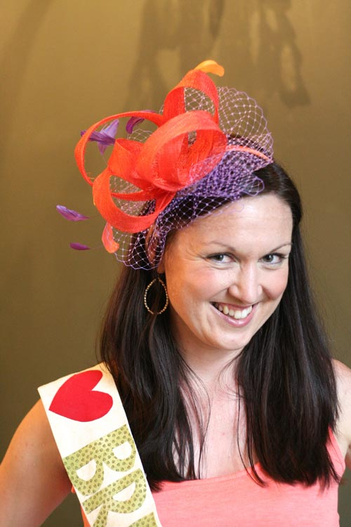 Another fabulous fascinator making hen party class in Edinburgh