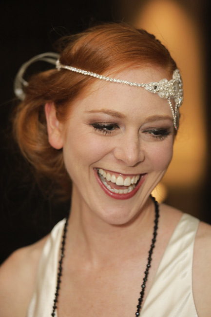 Great Gatsby style headbands on show for 1920s themed ball