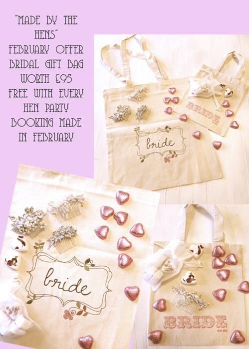 February Hen Party Craft Class Offer